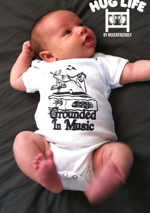 GROUNDED INFANT ONESIE